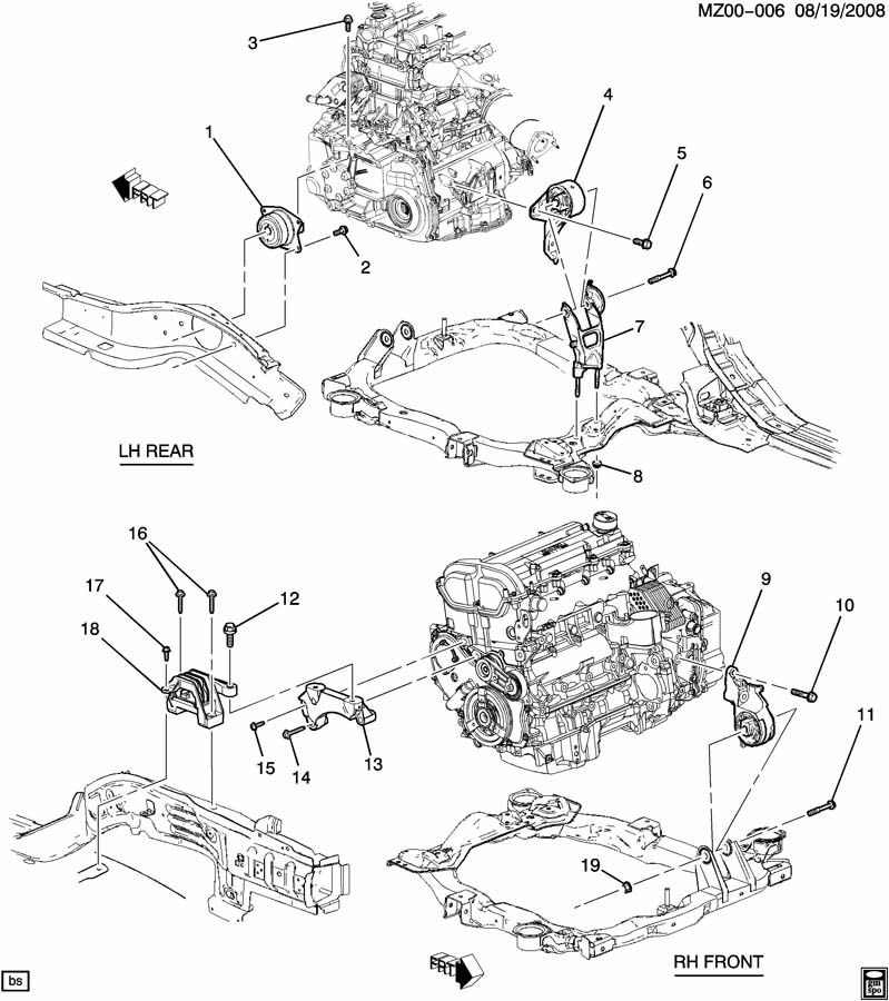 ENGINE & TRANSMISSION MOUNTING-L4