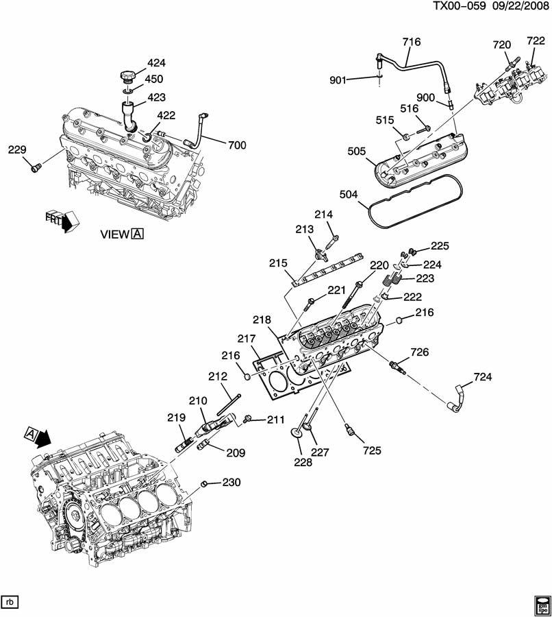 ENGINE ASM-5.3L V8 PART 2 CYLINDER HEAD & RELATED PARTS