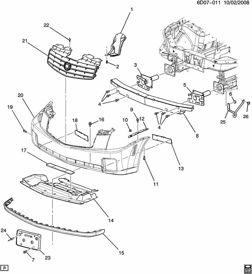 Cadillac CTS BUMPER/FRONT
