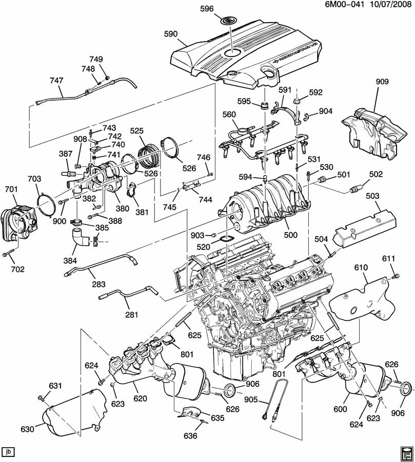 ENGINE ASM-4.6L V8 PART 5 MANIFOLDS & FUEL RELATED PARTS