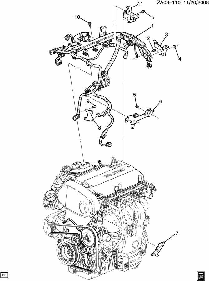 Saturn Astra WIRING HARNESS/ENGINE ECM