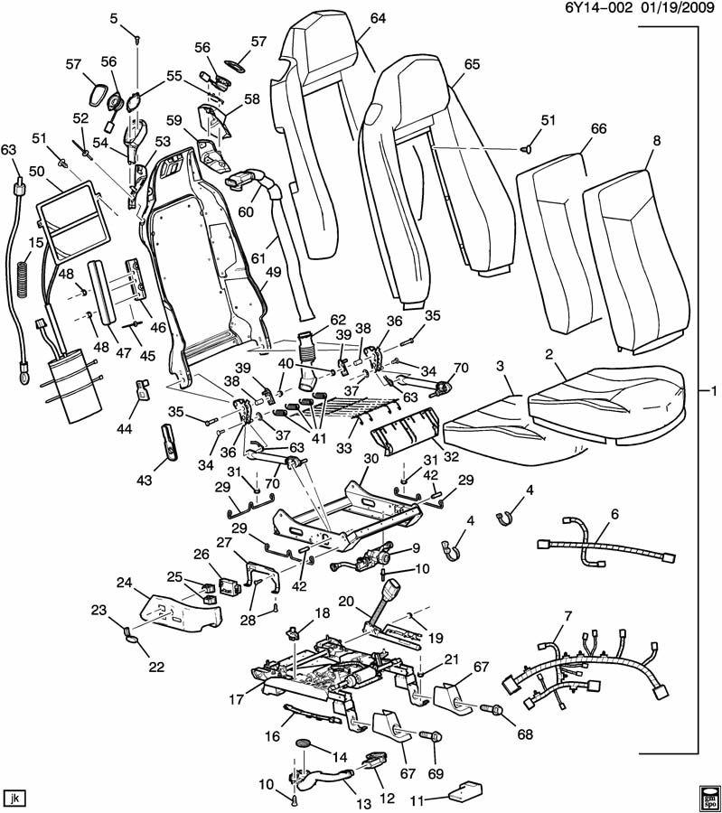 2004 Cadillac XLR SEAT ASM/PASSENGER