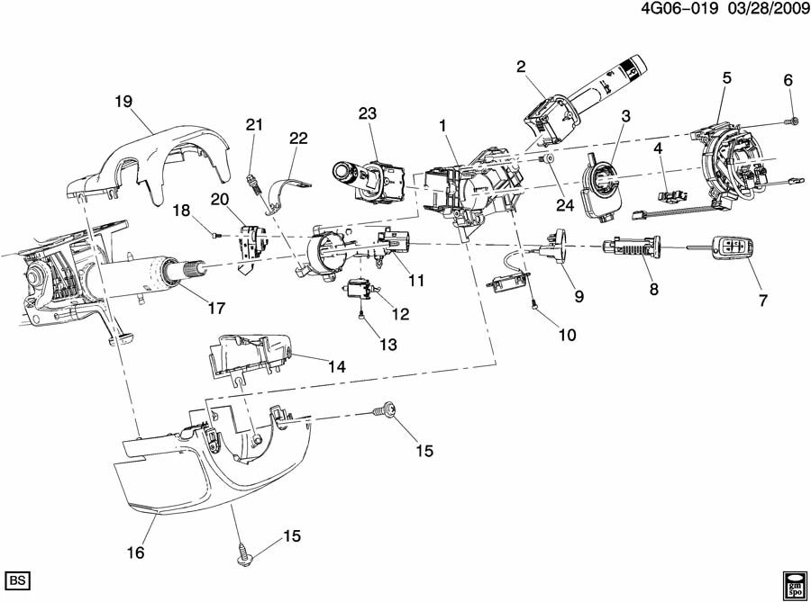 STEERING COLUMN PART 2 SWITCHES & COVERS