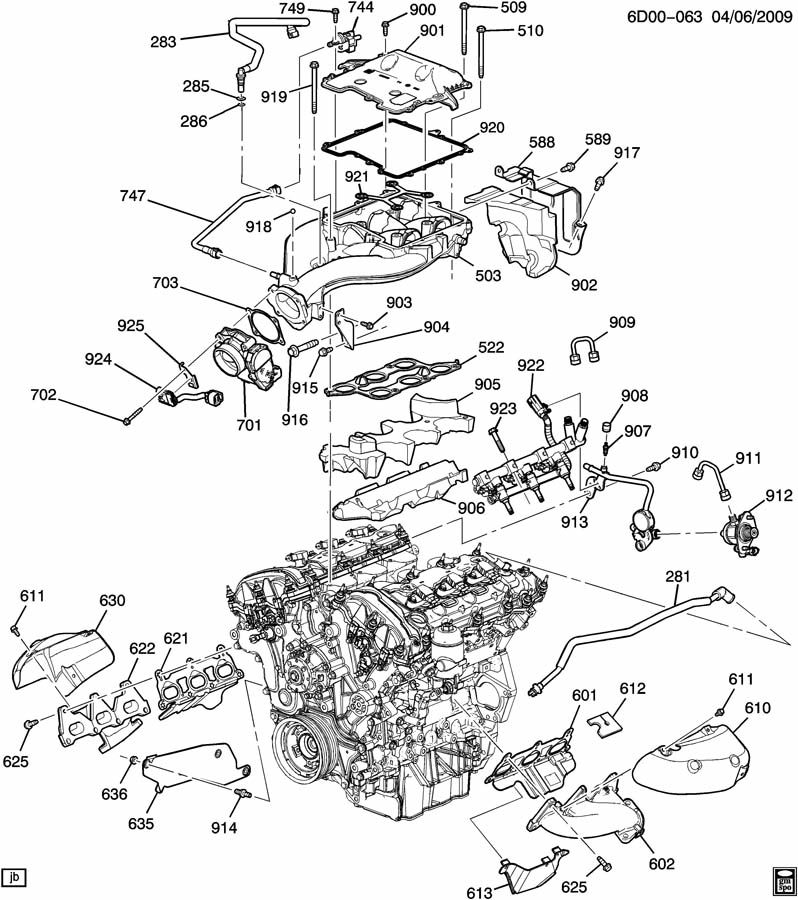 ENGINE ASM-3.6L V6 PART 5 MANIFOLDS & RELATED PARTS