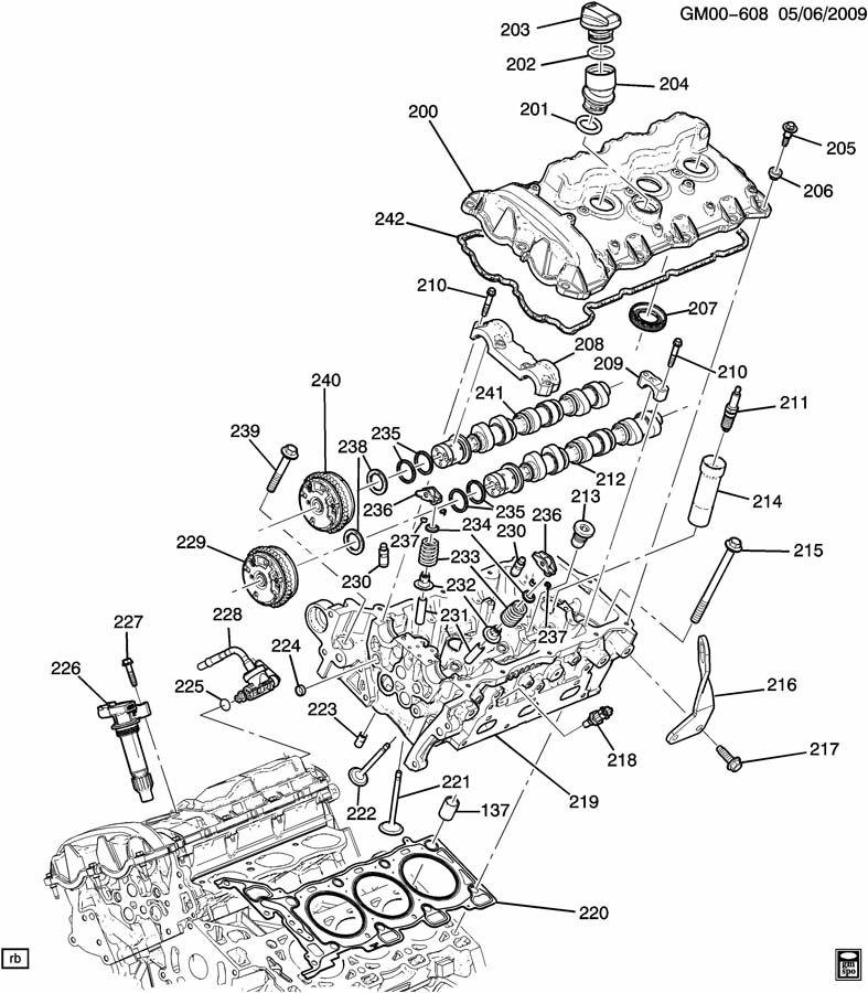 ENGINE ASM-2.8L V6 PART 2 CYLINDER HEAD & RELATED PARTS