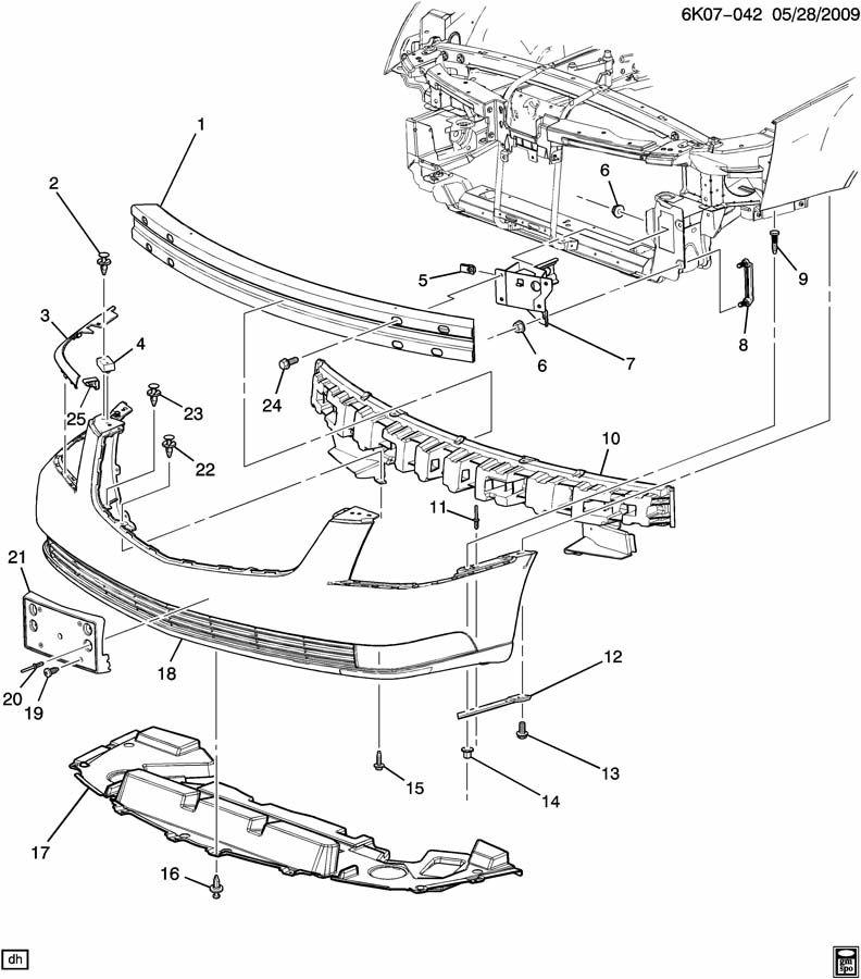 Cadillac DTS BUMPER/FRONT
