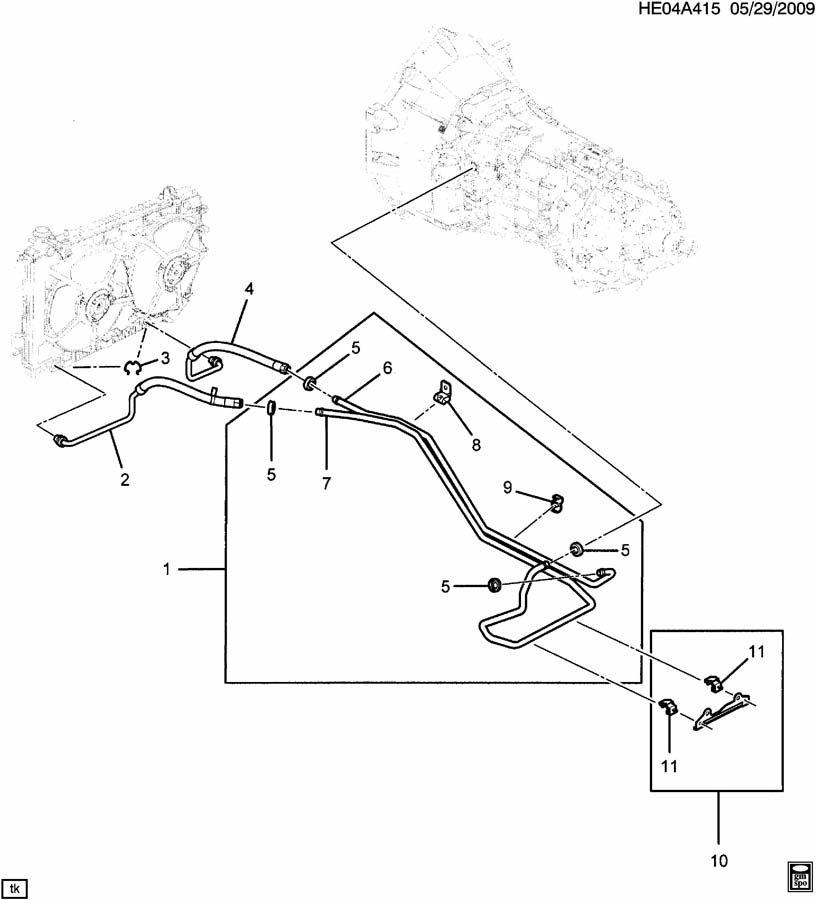 MANUAL TRANSMISSION OIL COOLER PIPES & HOSES