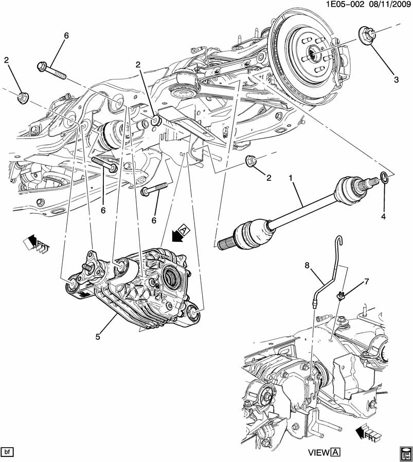 DIFFERENTIAL CARRIER MOUNTING