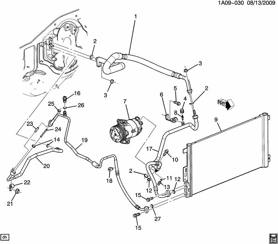 2009 Chevrolet Cobalt A/C REFRIGERATION SYSTEM