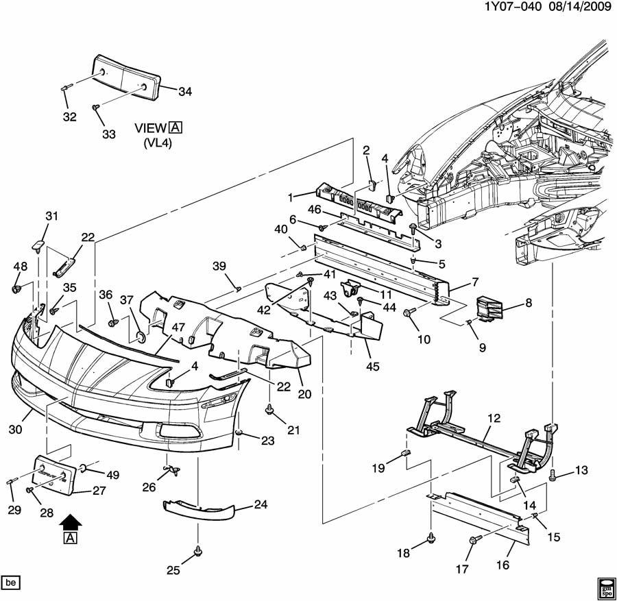 2007 Chevrolet Corvette BUMPER/FRONT