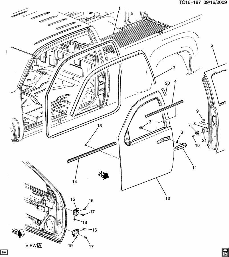 2008 Chevrolet Silverado DOOR HARDWARE/SIDE FRONT PART 1