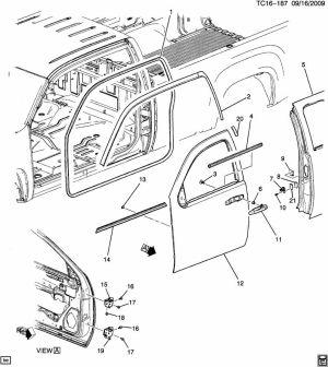 2008 Chevrolet Silverado DOOR HARDWARESIDE FRONT PART 1