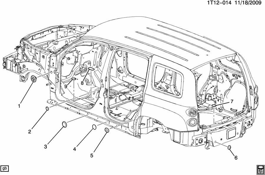 Chevrolet HHR PLUGS/BODY