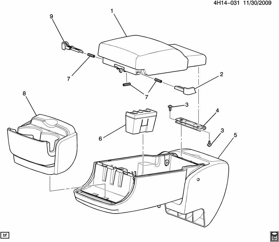 ARM REST/FRONT SEAT