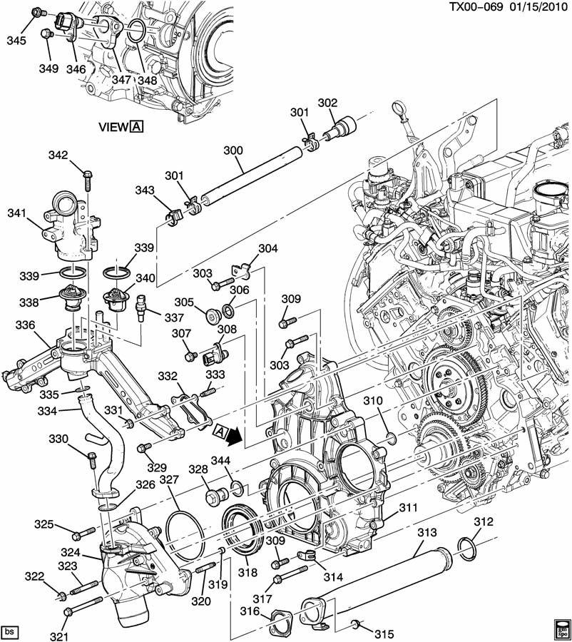 CK2,3 ENGINE ASM-6.6L V8 DIESEL PART 3 FRONT COVER