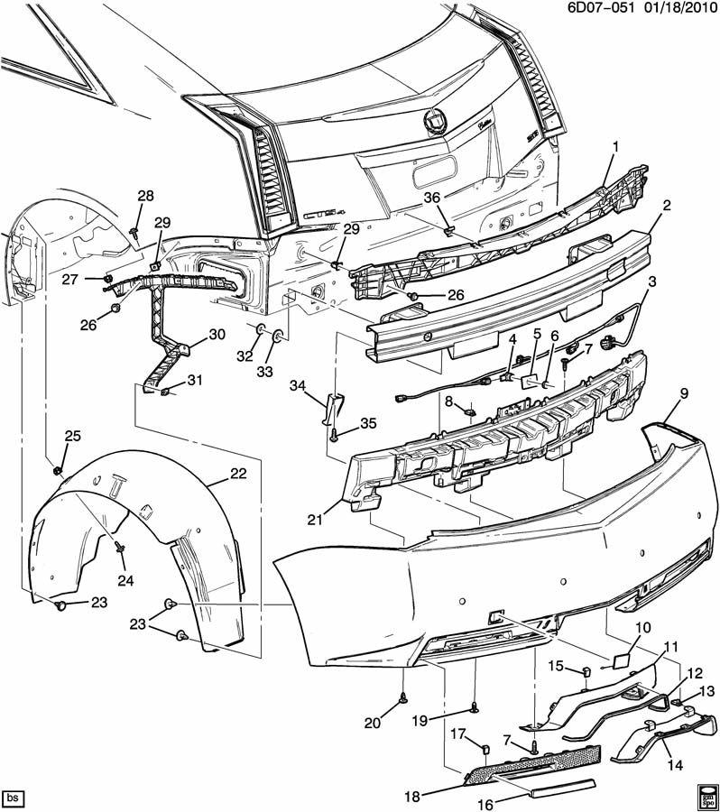 2011 Cadillac CTS BUMPER/REAR