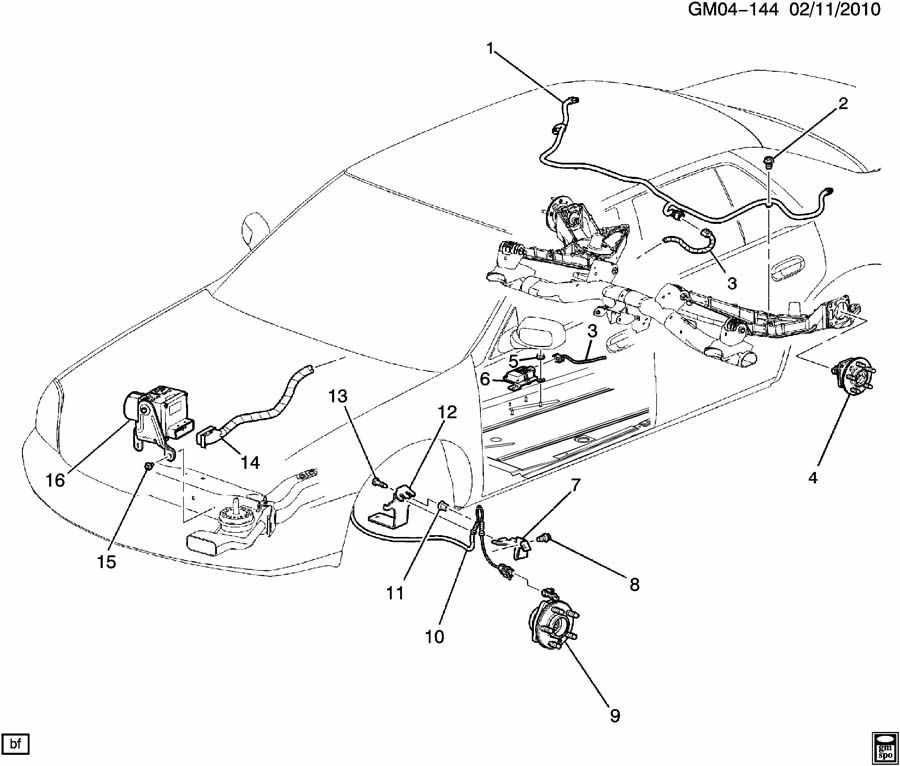 2004 Buick Rendezvous Rear Suspension Parts Diagram. Buick