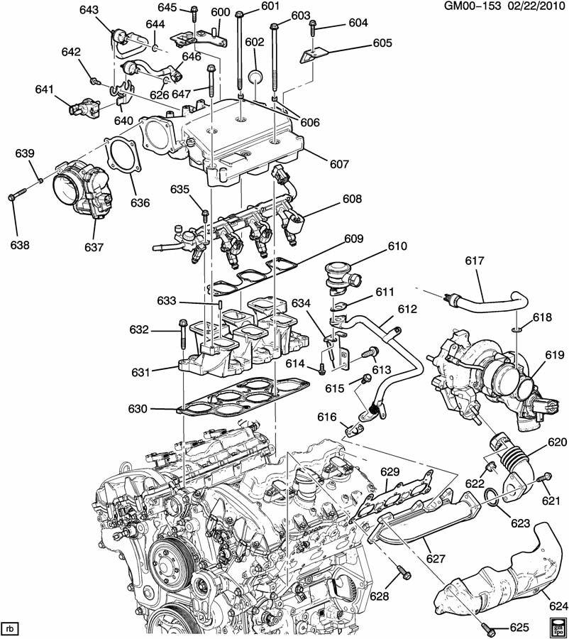 ENGINE ASM-2.8L V6 PART 6 MANIFOLDS & FUEL RELATED PARTS