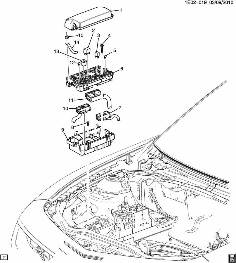 2011 Chevrolet Camaro EE,EF,ES RELAYS & MODULES/ENGINE