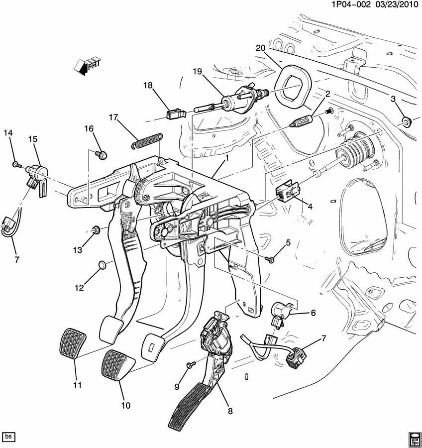 Chevrolet Cruze BRAKE PEDAL