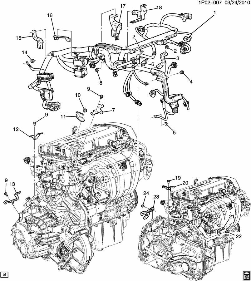 P WIRING HARNESS/ENGINE (LUW/1.8H);