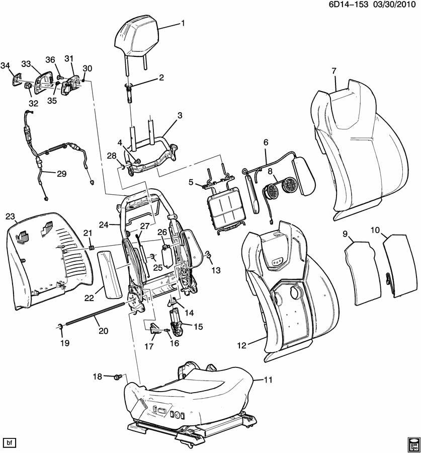 DN47 SEAT ASM/PASSENGER-BACK (VENTED/HEATED KB6, RECARO W2E);