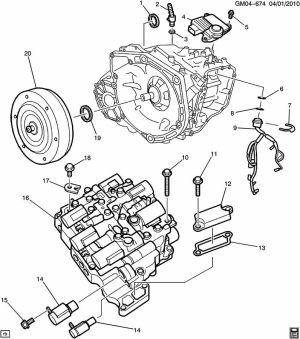 How the diesel Cruze AisinWarner AF406 transmission