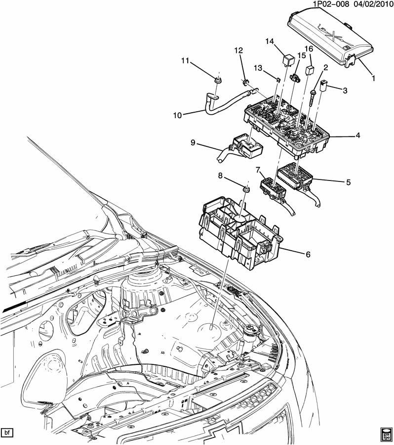 Chevrolet Cruze RELAYS & MODULES/ENGINE COMPARTMENT