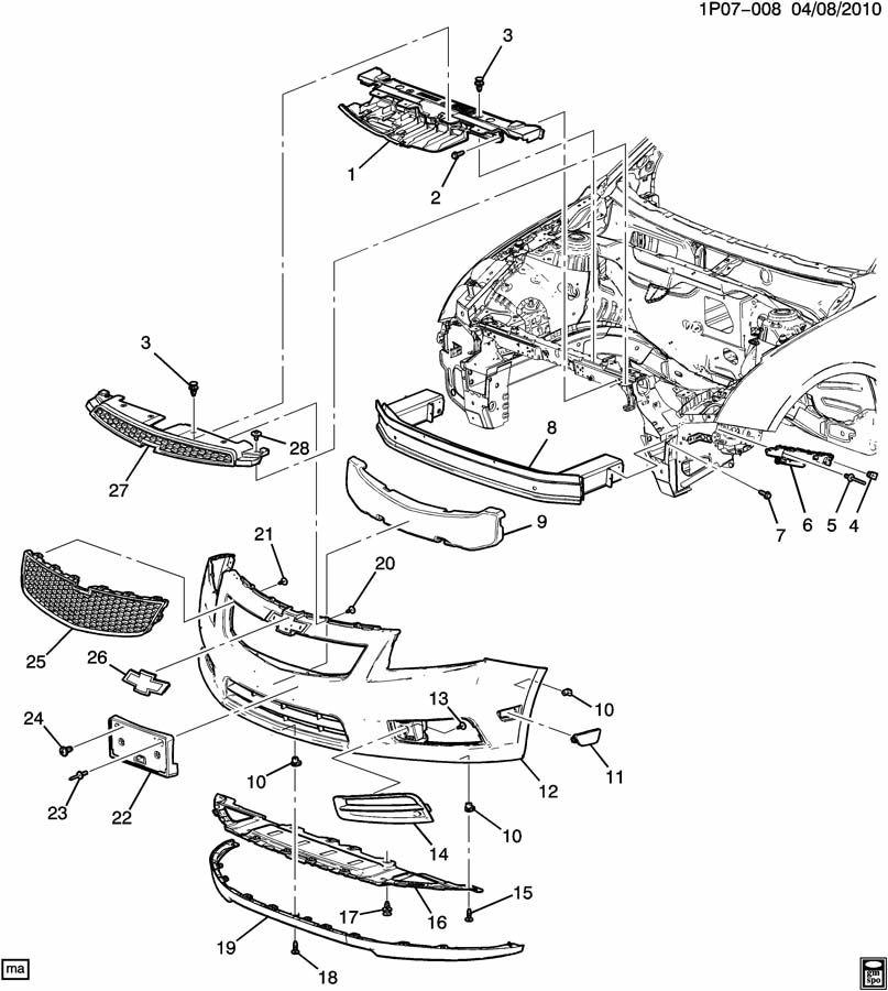 Chevrolet Cruze BUMPER/FRONT