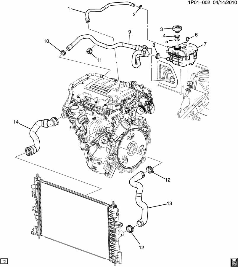 Chevy Cruze Cooling System Diagram, Chevy, Free Engine
