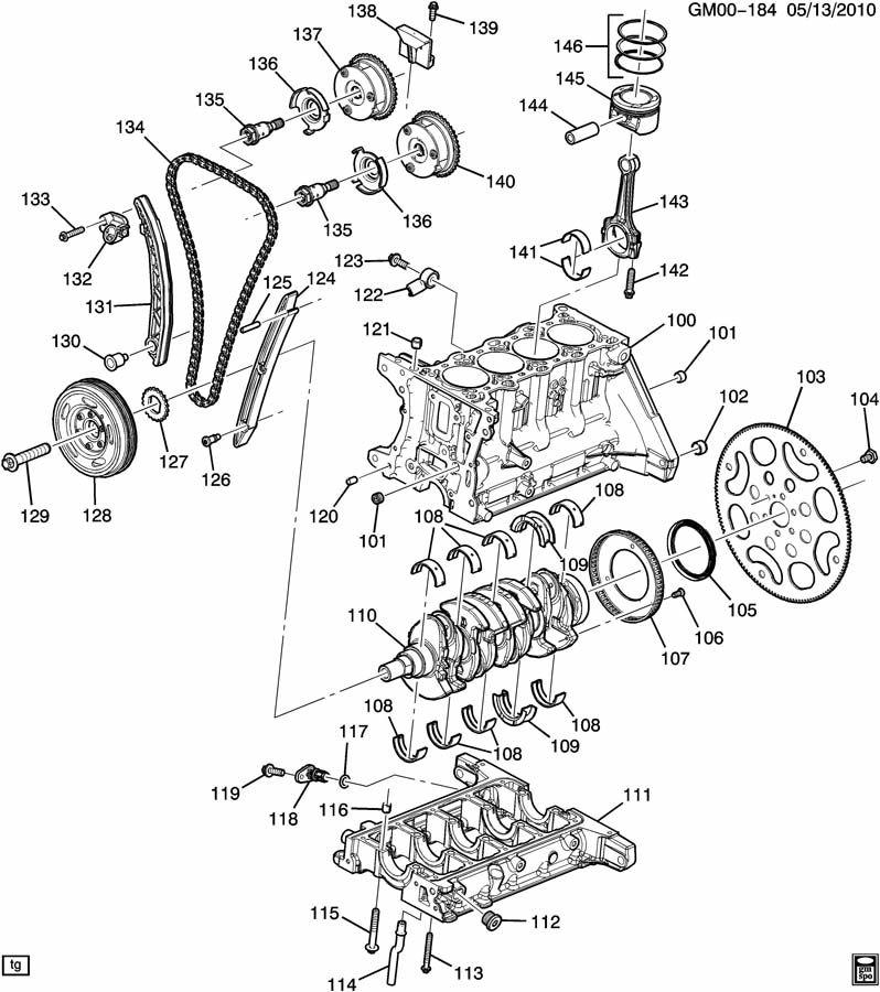 ENGINE ASM-1.4L L4 PART 1 CYLINDER BLOCK & INTERNAL PARTS
