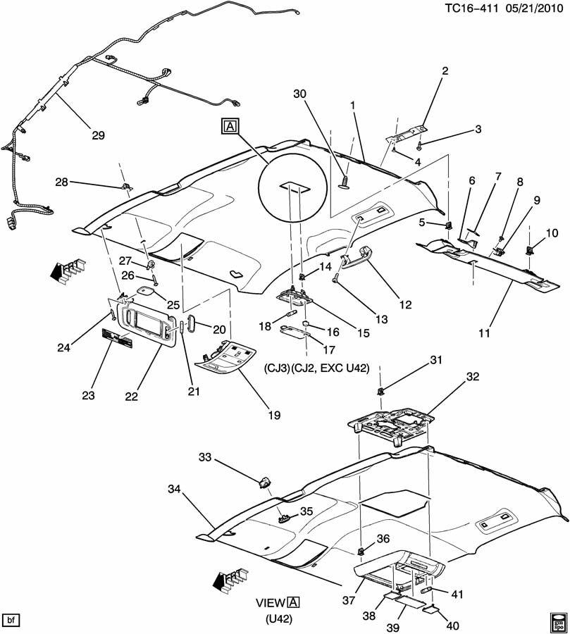 Chevrolet AVALANCHE TRIM/INTERIOR-ROOF
