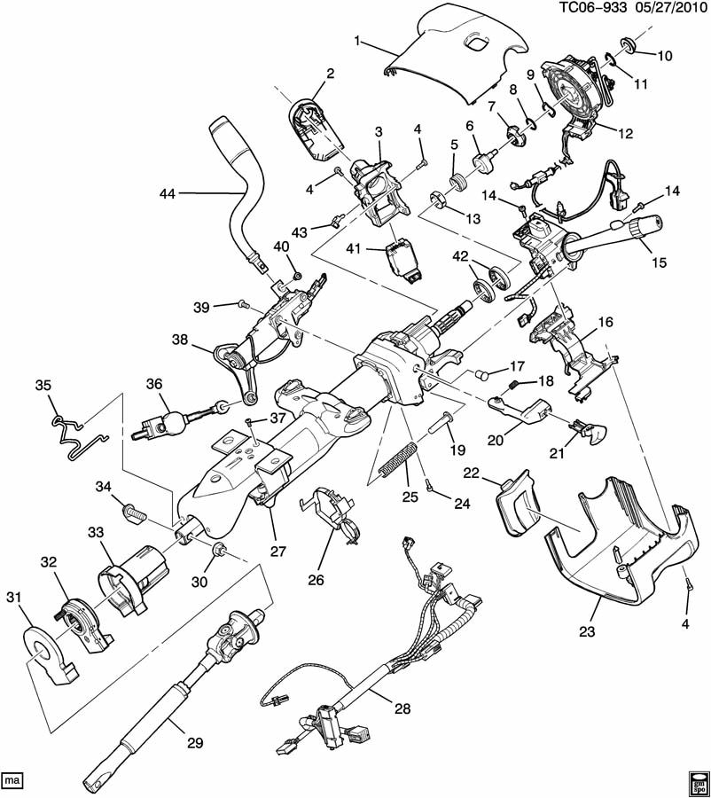 2012 Chevrolet AVALANCHE STEERING COLUMN