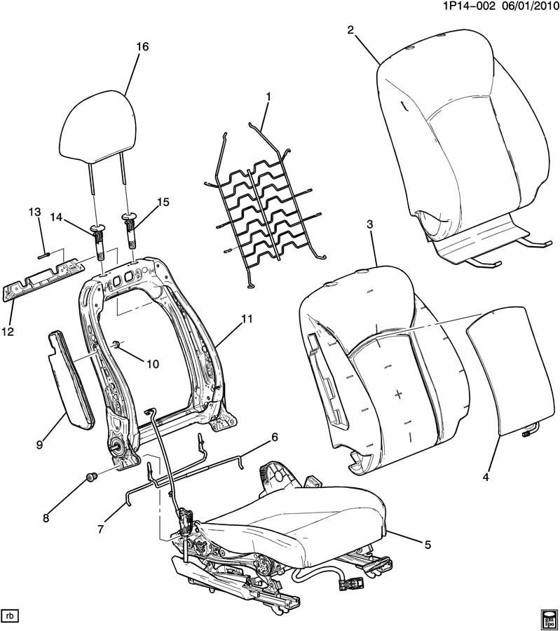 2011 Chevrolet Cruze SEAT ASM/PASSENGER BACK