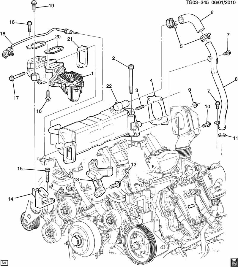 GMC SAVANA E.G.R. VALVE & RELATED PARTS