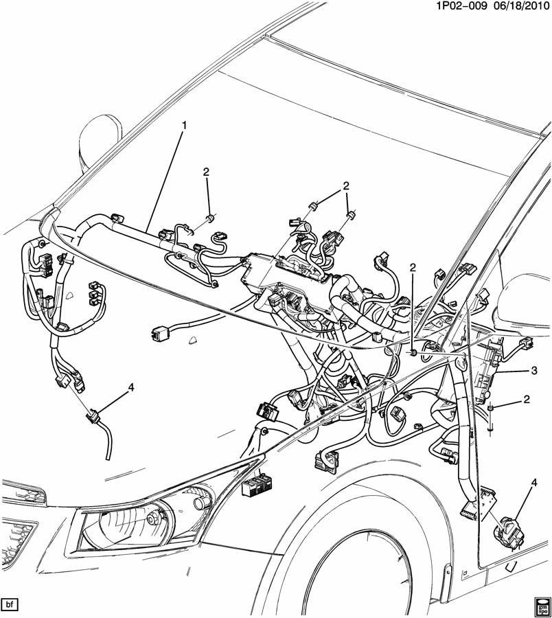 Chevrolet Cruze WIRING HARNESS/INSTRUMENT PANEL