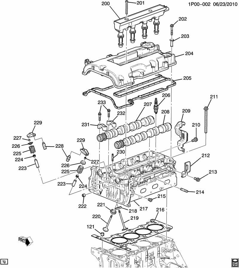 Chevrolet Cruze ENGINE ASM-1.4L L4 PART 2 CYLINDER HEAD