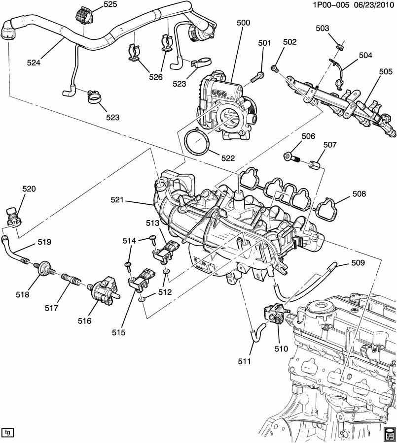 PL ENGINE ASM-1.4L L4 PART 5 INTAKE MANIFOLD & FUEL