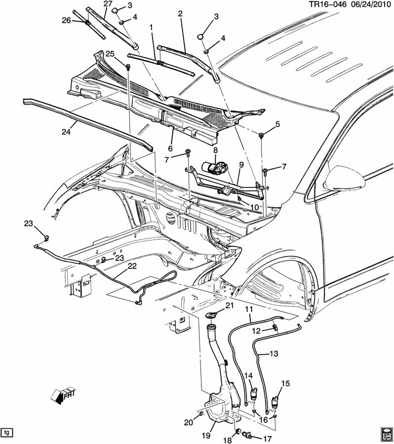 Gmc Acadia Windshield Wiper Motor Diagram, Gmc, Free