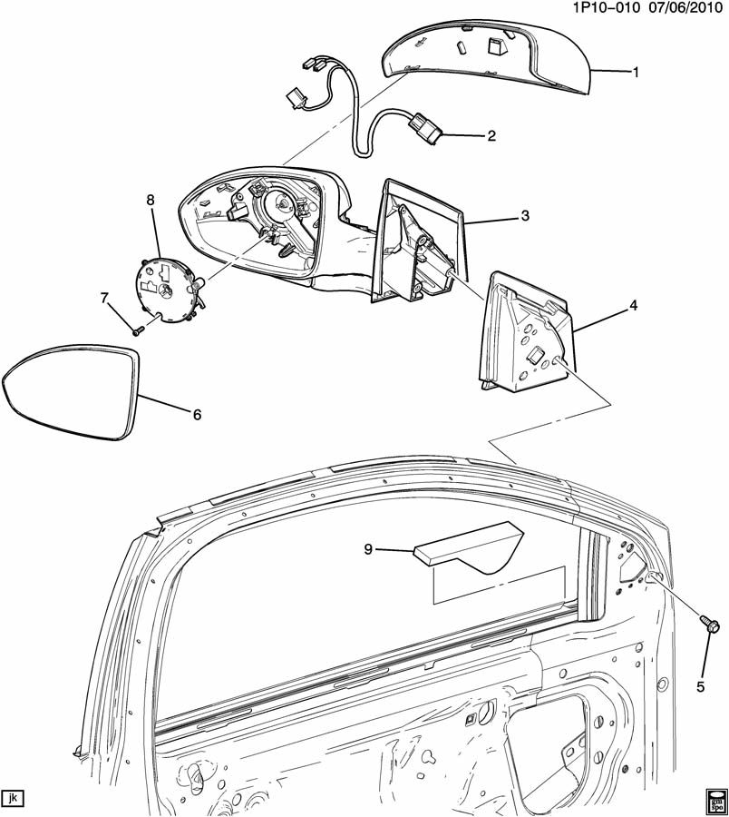 Chevrolet Parts Diagrams 2011 Cruise Mirror. Chevrolet