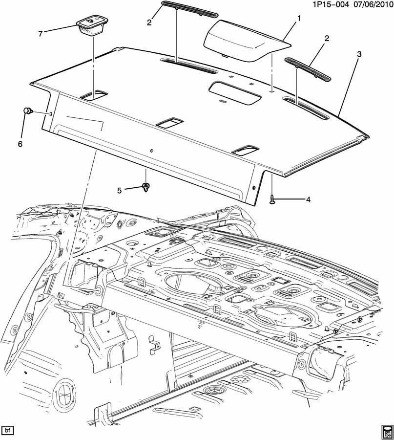 Chevrolet Cruze TRIM/BACK WINDOW SHELF