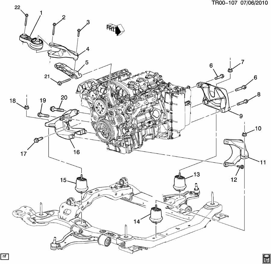 2010 Buick Enclave ENGINE & TRANSMISSION MOUNTING