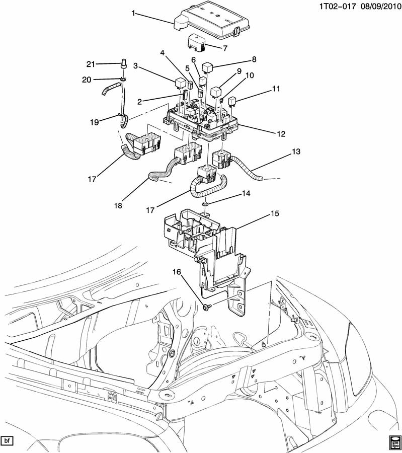 RELAYS & MODULES/ENGINE COMPARTMENT