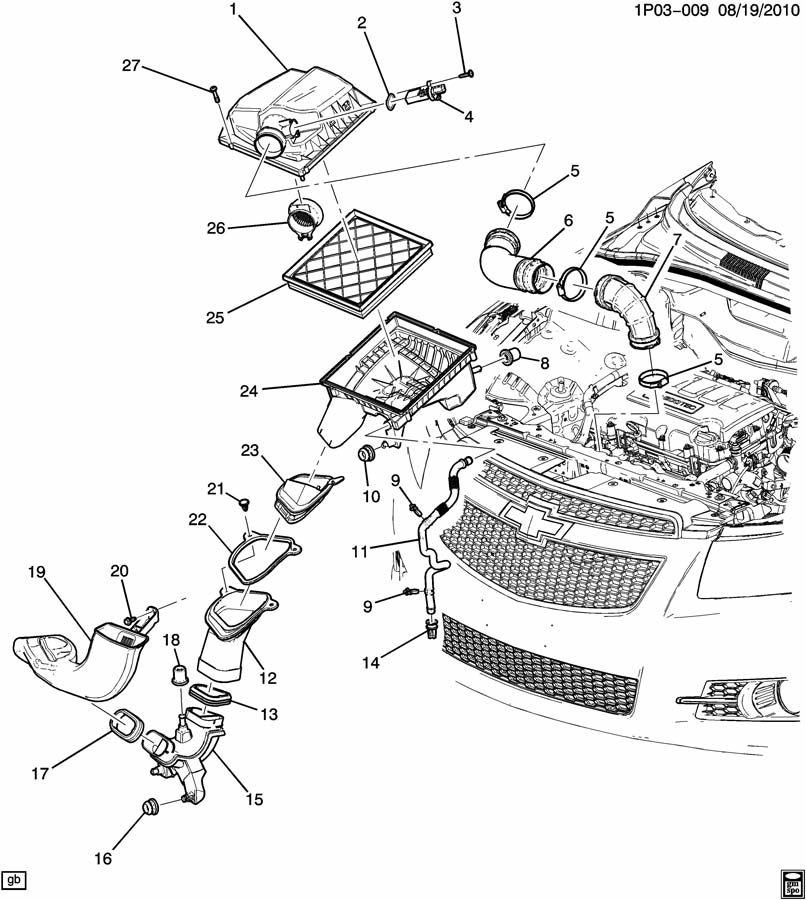 Chevrolet Cruze PL AIR INTAKE SYSTEM (LUJ/1.4-9);