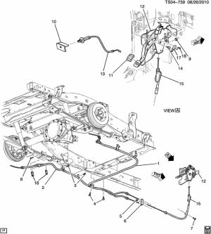 How to: Replace Emergency Brake Front Cable Assembly