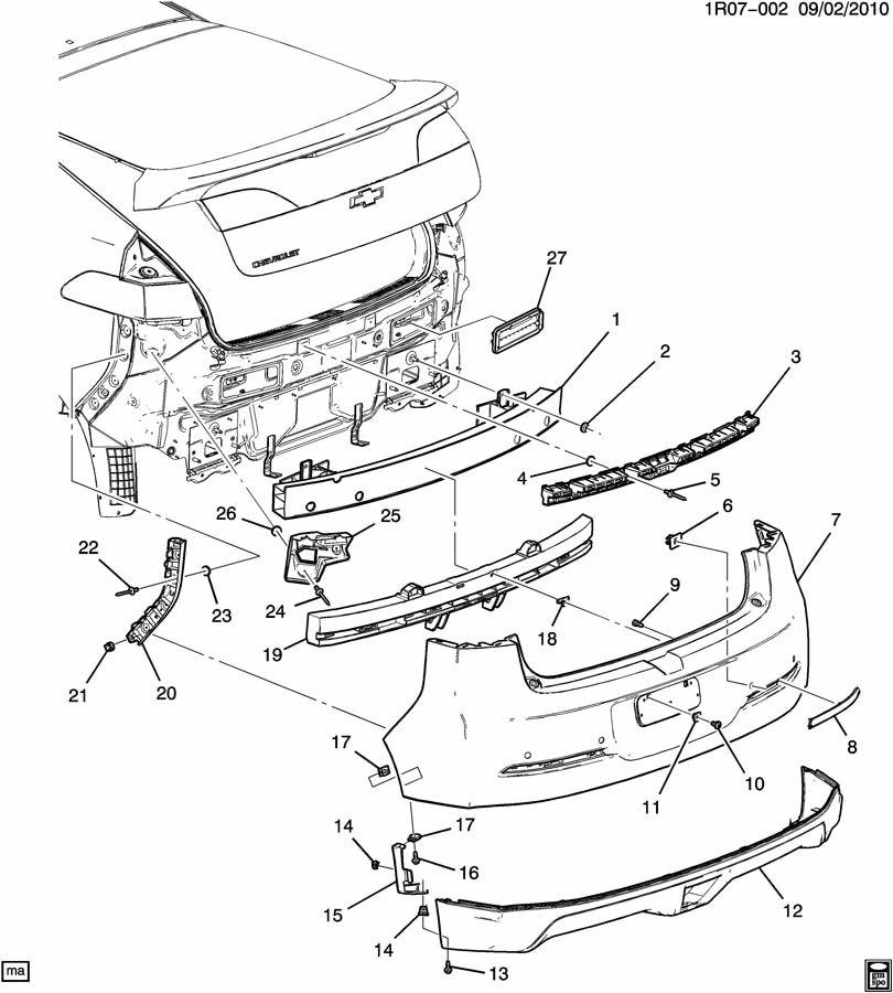 Chevrolet Volt BUMPER/REAR