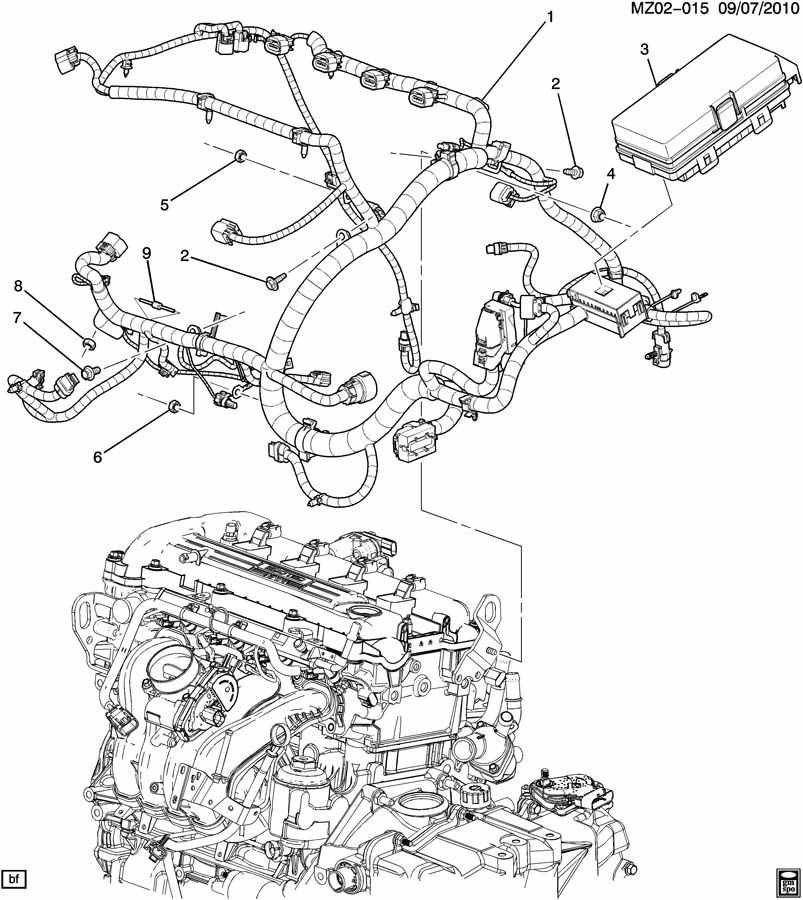 Chevrolet Malibu WIRING HARNESS/ENGINE