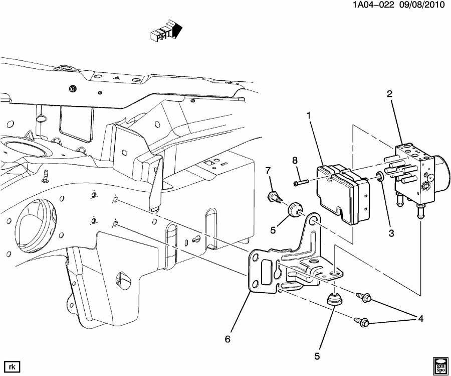 Pontiac Pursuit BRAKE PRESSURE MODULATOR VALVE & MOUNTING
