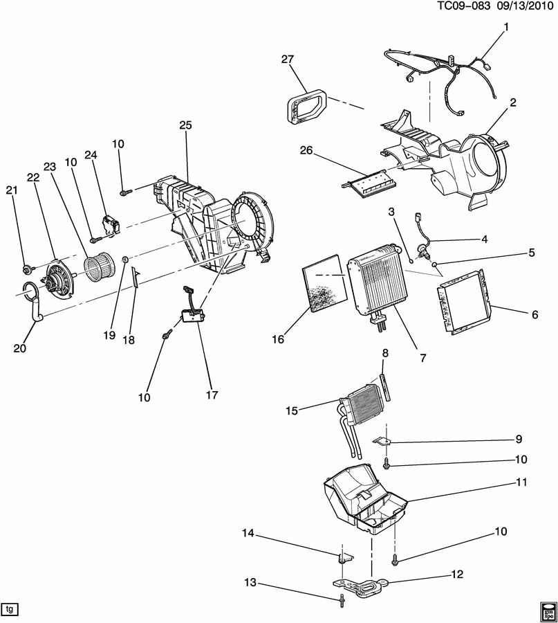 Chevrolet Tahoe LS AUXILIARY A/C EVAPORATOR & BLOWER