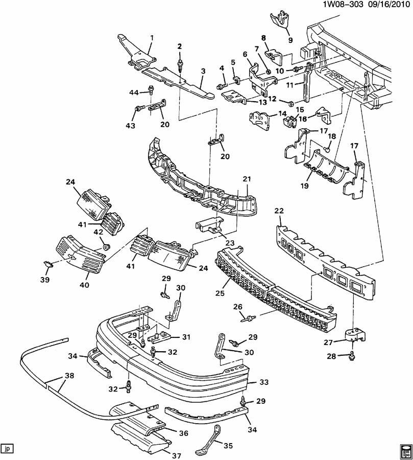 1991 Chevrolet Lumina SHEET METAL/FRONT END PART 1